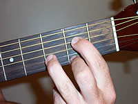 Guitar Chord A13sus4 Voicing 1