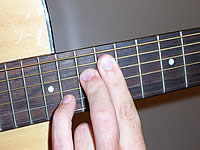 Guitar Chord A7b5 Voicing 5