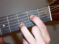 Guitar Chord A7sus4 Voicing 1