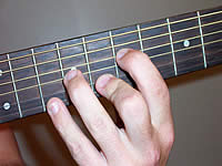 Guitar Chord A7sus4 Voicing 3