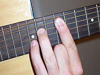 Guitar Chord A7sus4 Voicing 5