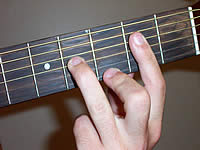 Guitar Chord A9 Voicing 1