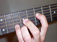 Guitar Chord A Voicing 3