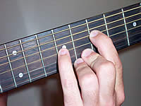 Guitar Chord Am7 Voicing 3