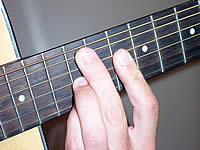 Guitar Chord Am7 Voicing 4