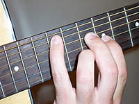 Guitar Chord Am Voicing 4
