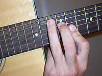 Guitar Chord Bb+ Voicing 5