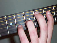 Guitar Chord C#maj7b5 Voicing 2