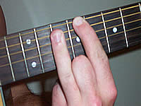 Guitar Chord C#maj7b5 Voicing 5