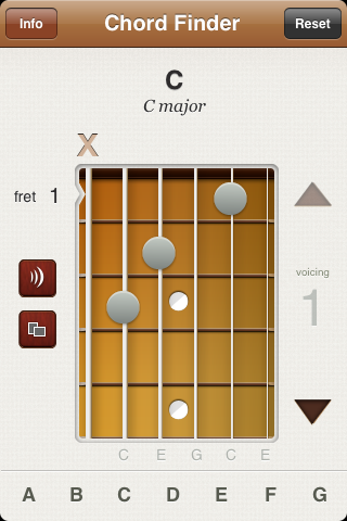 Guitar Chord Finder iPhone App at CHORD-C